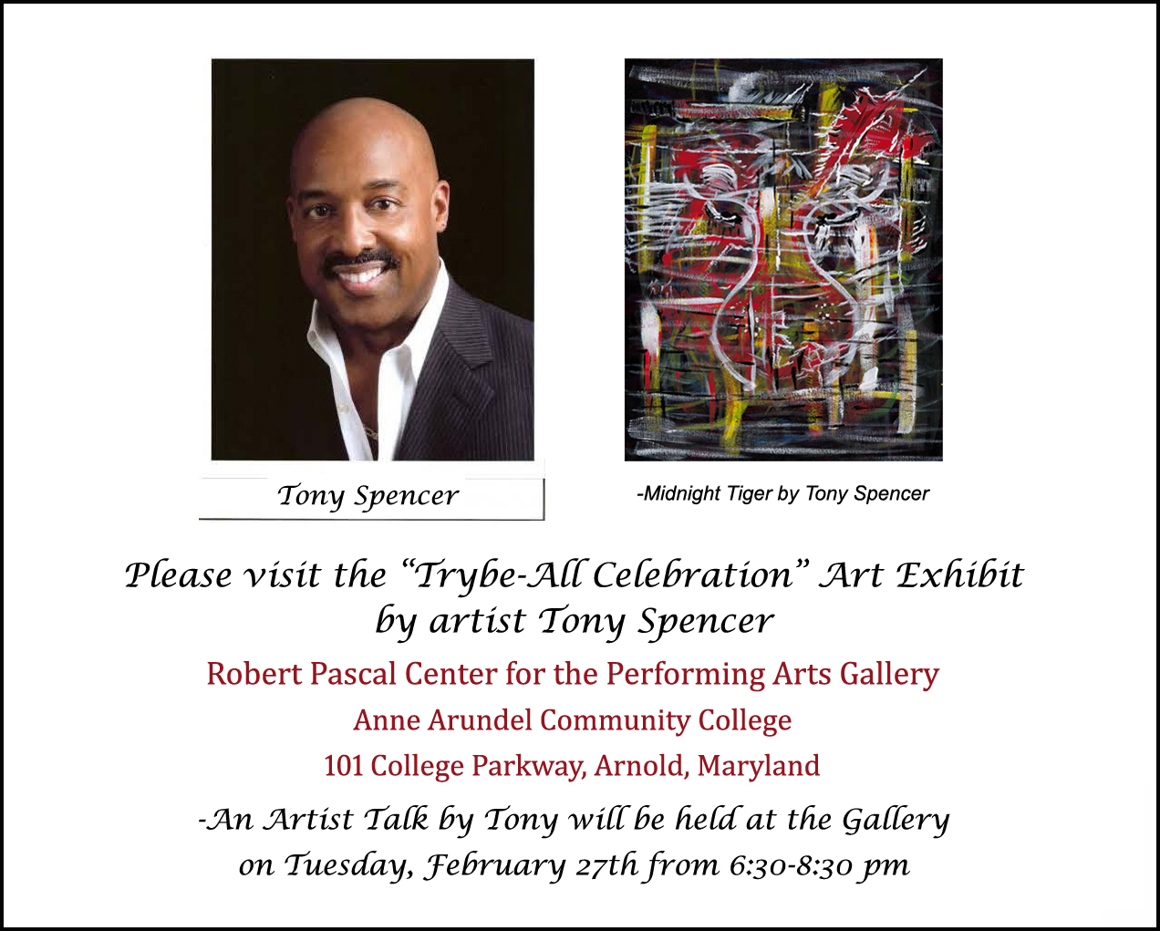 Trybe-All Celebrarion Artist Talk Flyer-Tony Spencer